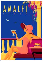 Amalfi, Italy Stamp Sticker