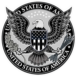 American Eagle With USA Flags Seal Sticker