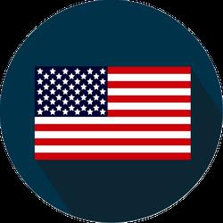 American Flag Circle Sticker
