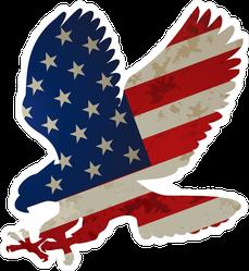 American Flag Eagle Sticker