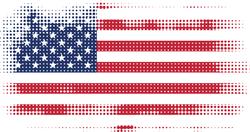 American Flag Halftone Sticker