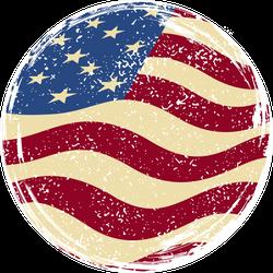 American Grunge Flag Circle Sticker