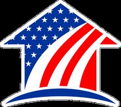 American Home USA Flag Sticker