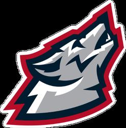 American Howling Wolf Mascot Sticker