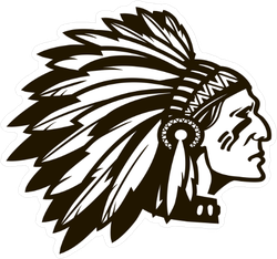 American Indian Chief Sticker