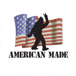 American Made Bigfoot Sticker