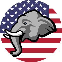 American Republican Party Elephant Poster Sticker