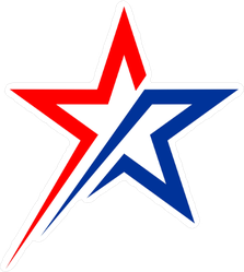 American Shooting Star Logo Sticker