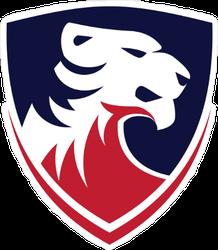 American Tiger Logo Design Sticker