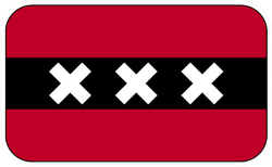 Amsterdam City Flag Sticker