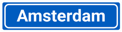 Amsterdam City Sign Sticker