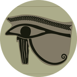 Amulet With The Eye Of Horus Egyptian Icon Sticker