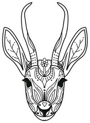 An Abstract Illustration Of An Antelope Sticker