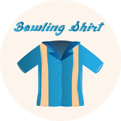 An Isolated Bowling Shirt Sticker