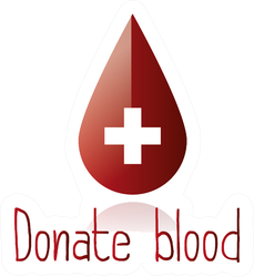 """An Isolated """"Donate Blood"""" Illustration Sticker"""