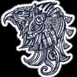 Ancient Egypt Bird Tattoo Sticker