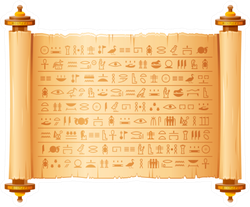 ancient  Egyptian Papyrus With Hieroglyphs Sticker