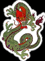 Ancient Flying Dragon Sticker