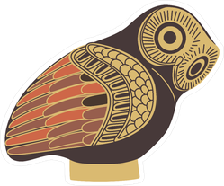 Ancient Greek Owl Sticker