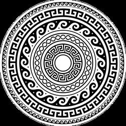 Ancient Greek Round Key Pattern Sticker