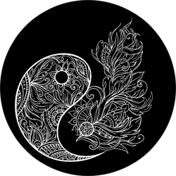 Ancient Symbol Of Yin-yang In Ethnic Tracery Patterns Sticker
