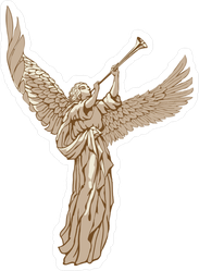 Angel Blowing Trumpet Sticker