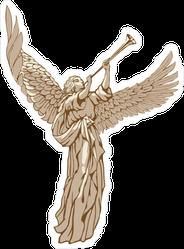 Angel Blowing Trumpet Sticker