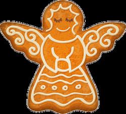 Angel Gingerbread Cookie Sticker