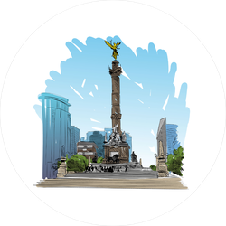 Angel Of Independence Column Mexico Sticker