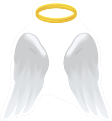 Angel Wings and Halo Sticker