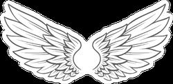 Angel Wings Sketch Sticker