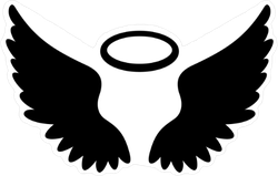 Angel Wings Symbol Sticker