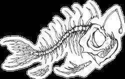 Angler Fish Skeleton Sticker