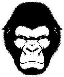 Angry Black And White Monkey Sticker