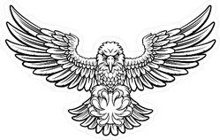 Angry Eagle Landing to Attack Sticker
