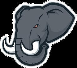 Angry Elephant Head Mascot Sticker