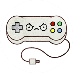 Angry Game Controller Sticker