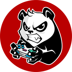 Angry Gamer Panda Sticker