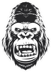 Angry Gorilla Head Sticker