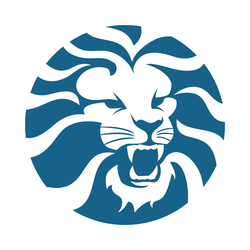 Angry Lion Head Circle Sticker
