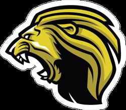 Angry Lion Head Mascot Sticker