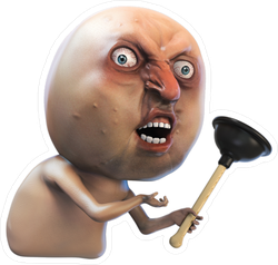Angry Man With Pump Rage Face Meme Sticker