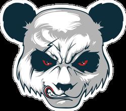 Angry Red-Eyed Panda Sticker