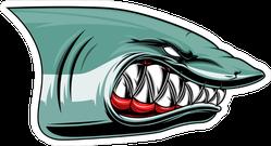 Angry Shark Head Sticker