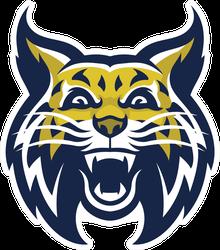 Angry Wild Bobcat Mascot Head Sticker
