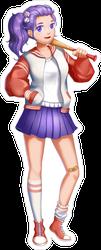 Anime Baseball Girl Sticker