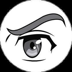 Anime Eye Manga Comic Sticker