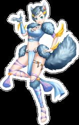 Anime Wolf Pilot Girl Sticker