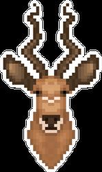 Antelope Head In Pixel Art Style Sticker