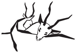 Antelopes Hugging Sticker